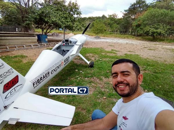 Pesquisador piauiense desenvolve protótipo de avião com propulsão elétrica; VÍDEO