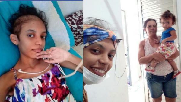 Com câncer no estômago, jovem mãe pede ajuda dos piauienses