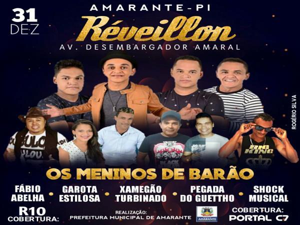 Tudo pronto para o 'Show da Virada' da Prefeitura Municipal de Amarante