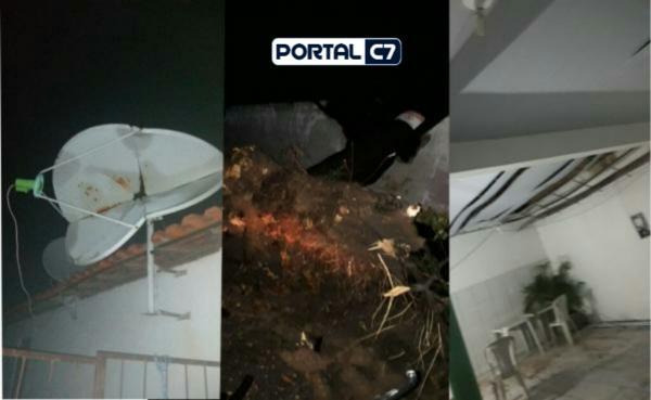 Temporal com chuva e ventos fortes causa estragos e assusta moradores em Angical