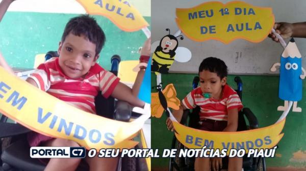 Prefeitura de Amarante doa cadeira de rodas para aluno frequentar escola