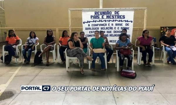 Escola Municipal Antônio Gramoza realiza reunião com os pais de Amarante