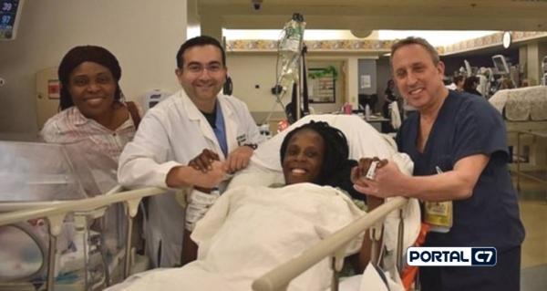 Mulher dá à luz seis gêmeos em parto que durou nove minutos