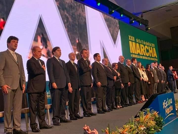 Prefeitos da AMPAR participam da XXII Marcha dos Prefeitos em Brasília