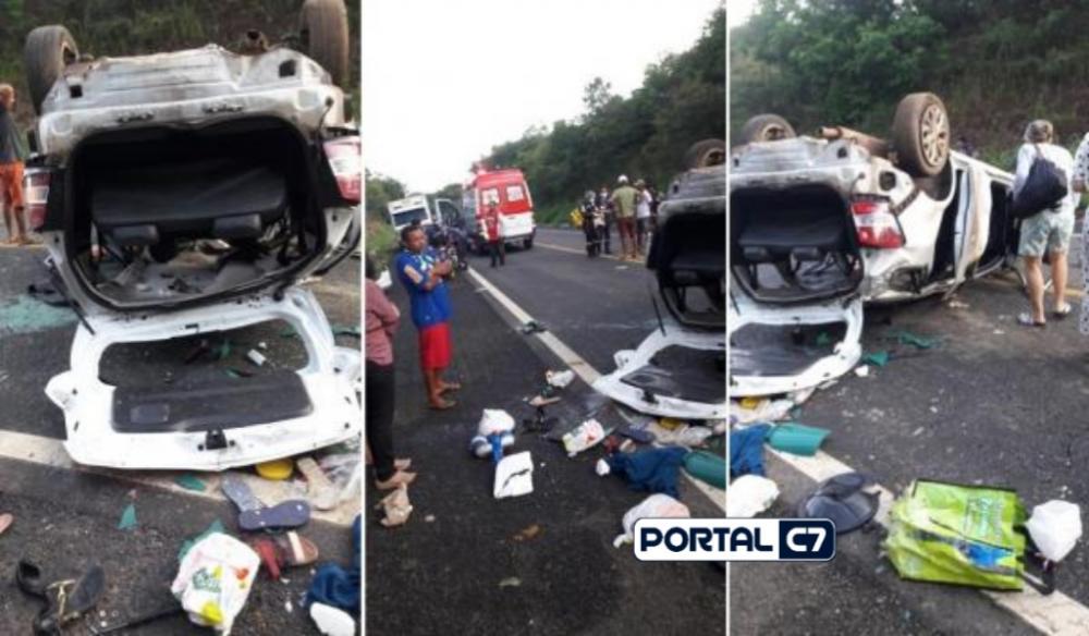 Imagens feitas momentos após o acidente (Reprodução)