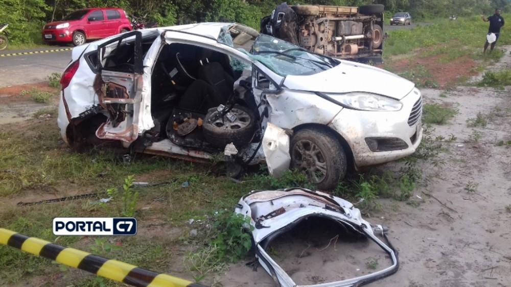 Tragédia: Professor morre em grave acidente na PI-113 no interior do Piauí