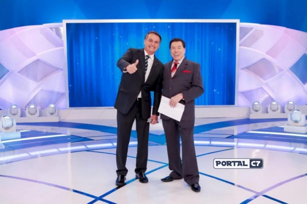 Jair Bolsonaro e Silvio Santos (Foto: Divulgação SBT)