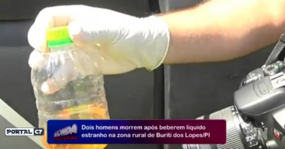Homens morrem após ingerir 'veneno' pensando ser cachaça no Piauí