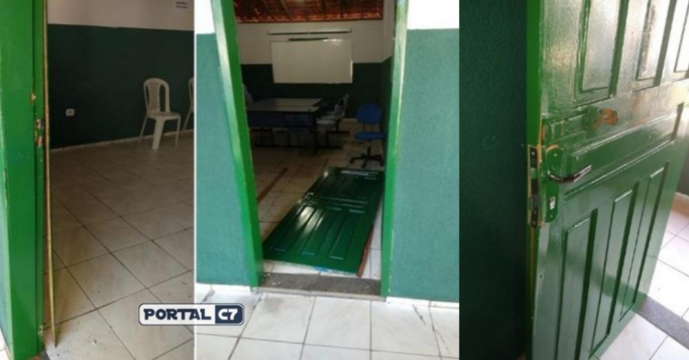 Portas arrombadas (Imagem: Divulgação)