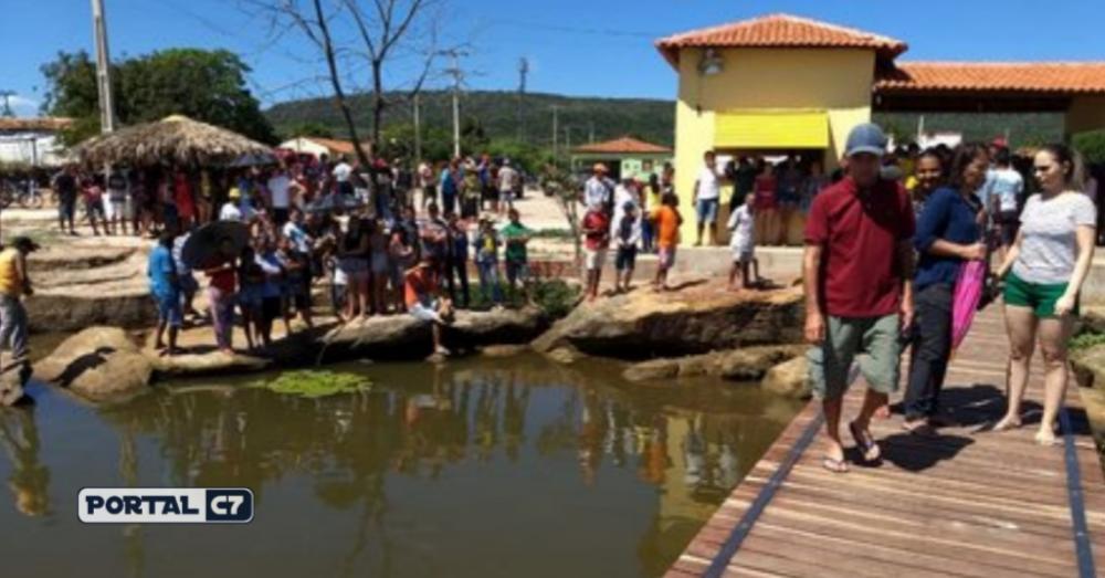 Foto: Divulgação/Corpo de Bombeiros - Açude na cidade de Paquetá