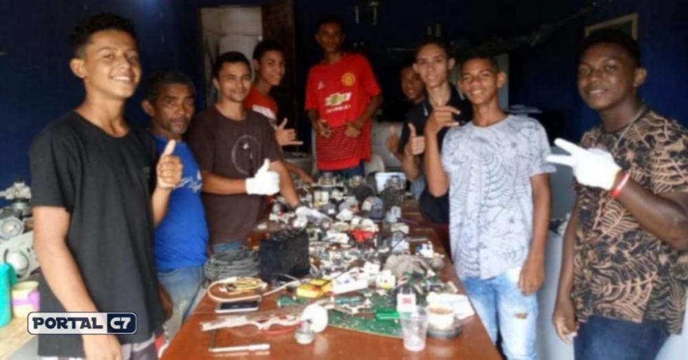 Jovens participantes do projeto.