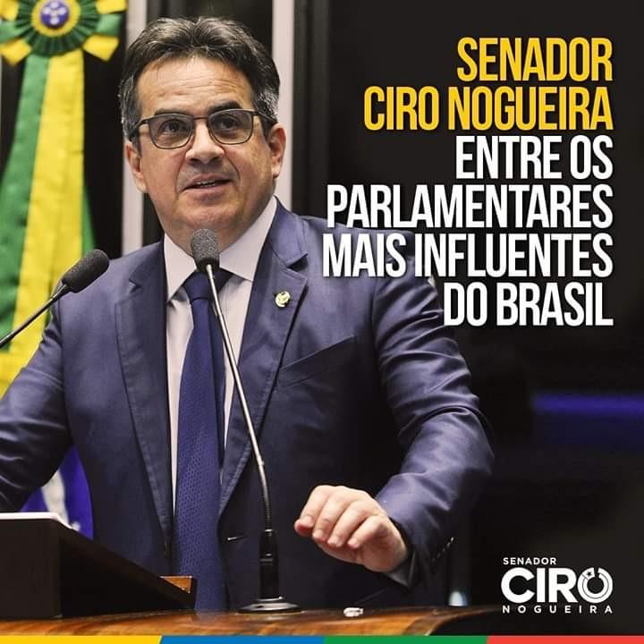 Senador Ciro Nogueira está entre os mais influentes do Congresso, diz relatório