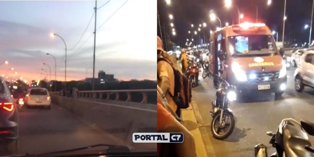 Mulher cai de ponte em Teresina/Divulgação