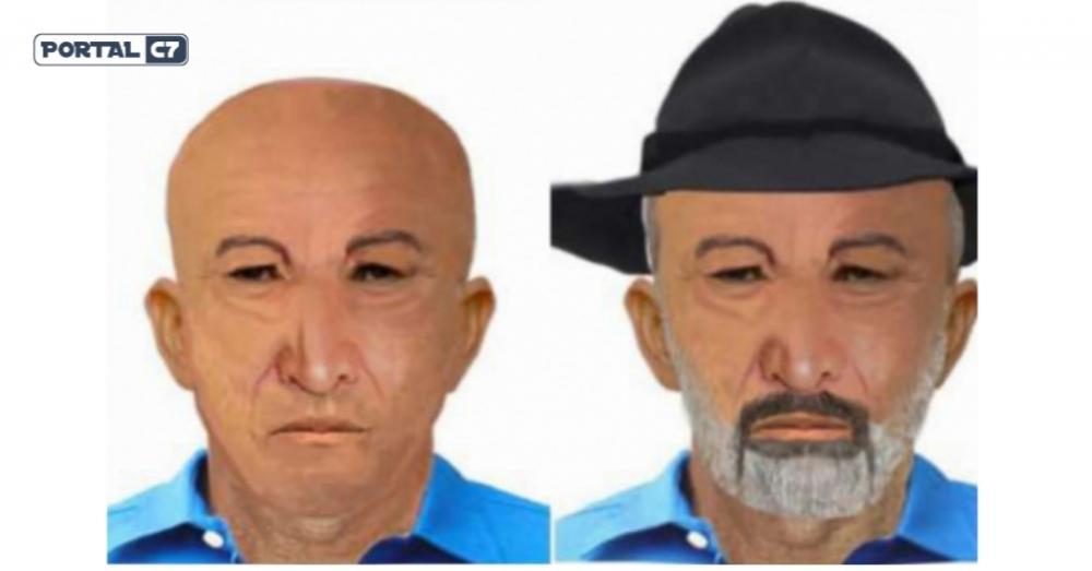Um retrato falado foi confeccionado pela Pefoce (Foto: Divulgação/Pefoce )