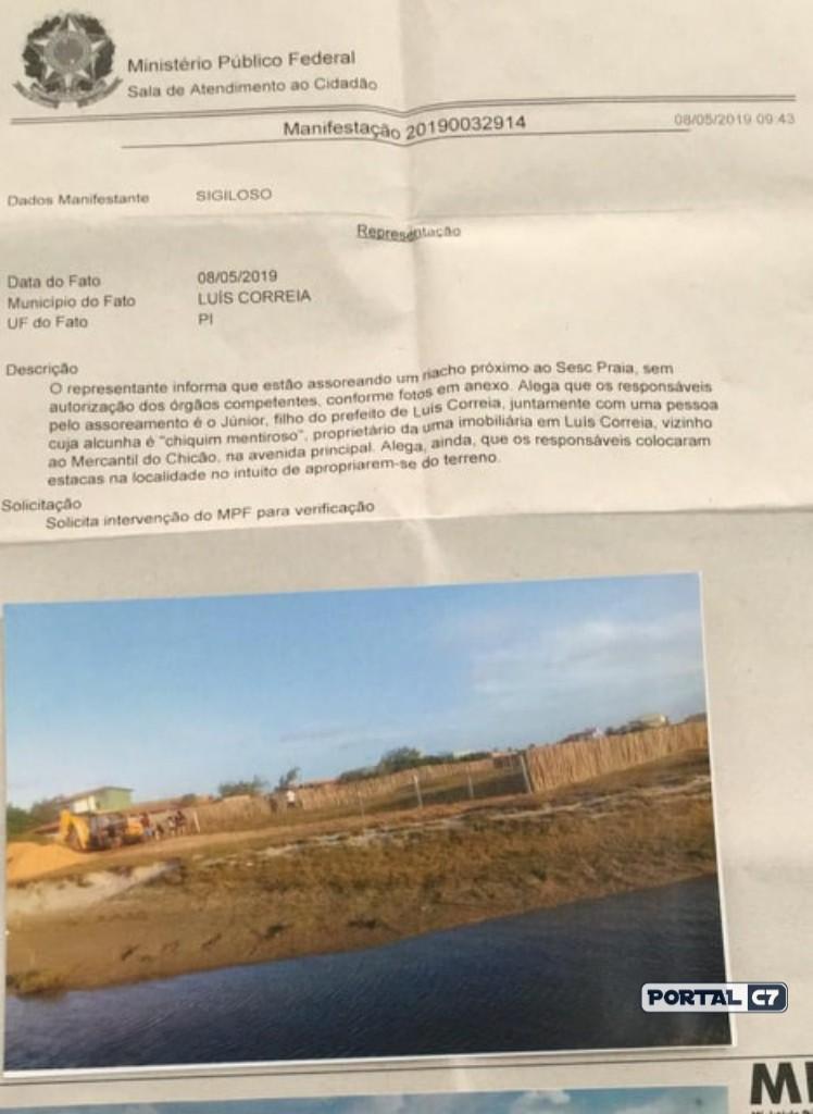 Filho de prefeito é denunciado por grilagem de terra no Piauí