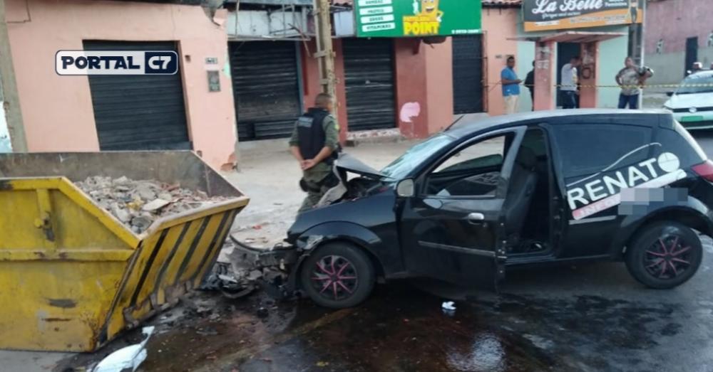 Foto: Divulgação/PM - Carro da vítima