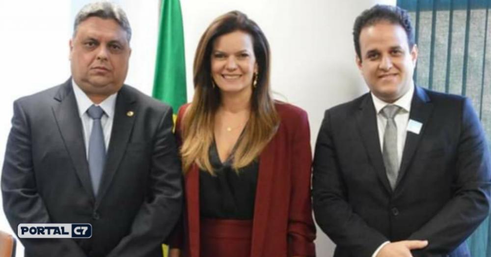 Deputado Júlio Arcoverde, Deputada Iracema Portella e Prefeito Diego Teixeira