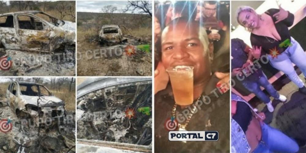 Corpos carbonizados são encontrados dentro de carro no interior do Piauí