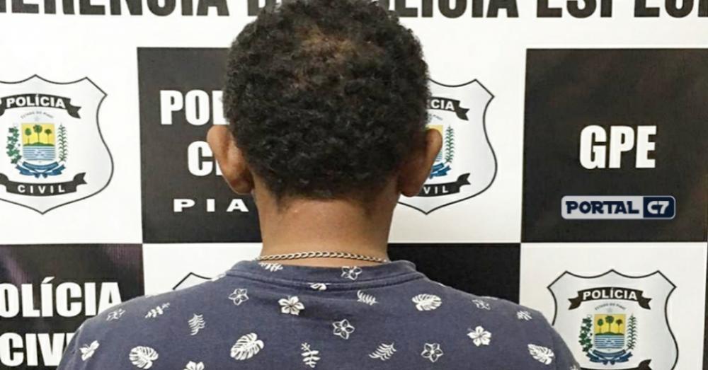 Foto: Divulgação/SSP-PI/Acusado de estuprar criança