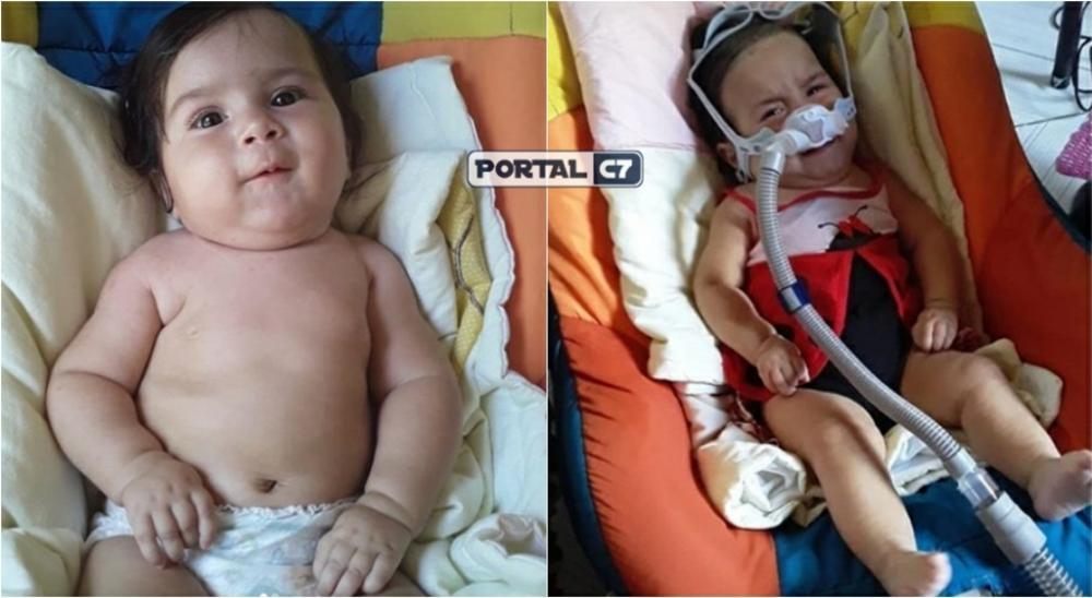 Foto: Instagram/Ame Maria Kemily - Kemily foi diagnosticada com AME Tipo 1