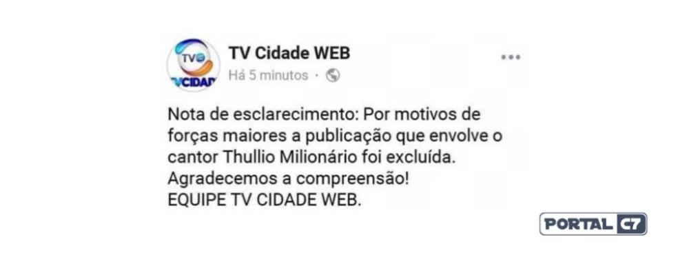 Mulher casada que beijou Thullio Milionário volta atrás e decide não processar cantor; vídeo