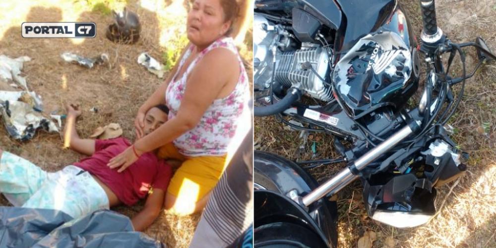 Jovem morre após colisão entre motocicletas em Parnaíba/Divulgação
