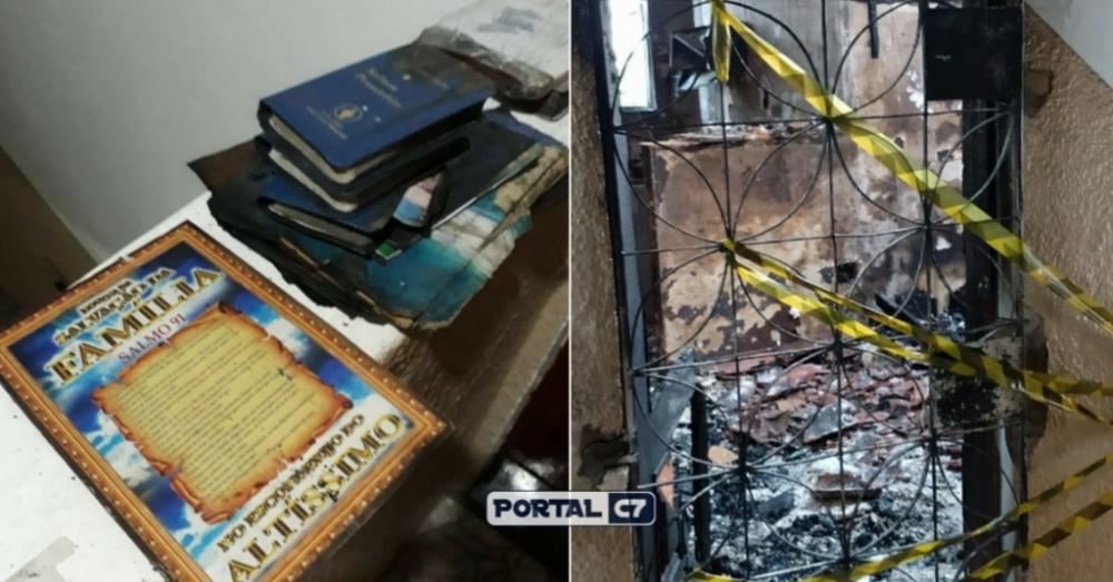 PODER DE DEUS: Bíblias e livro de Salmos escapam de incêndio em apartamento