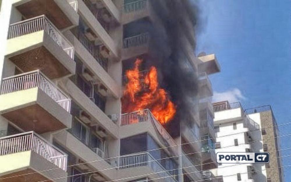 Local do incêndio / Reprodução