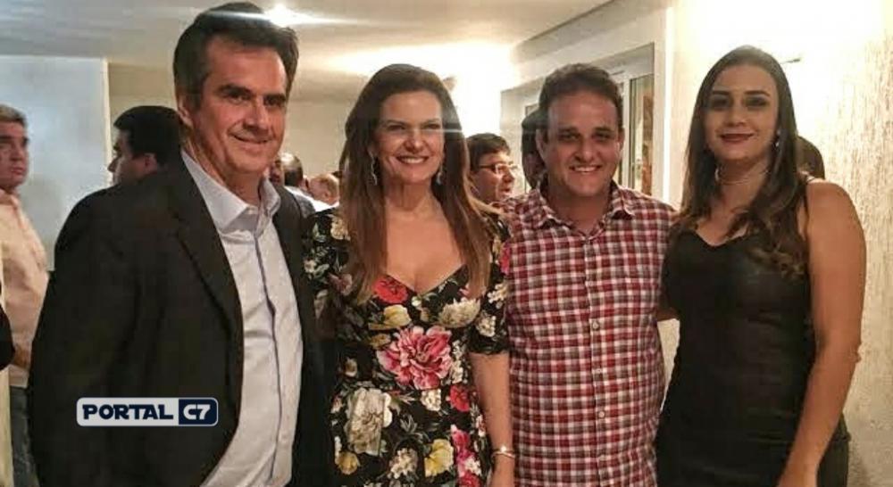 Senador Ciro Nogueira, Deputada Iracema Portella, Prefeito Diego Teixeira e sua esposa Ana Tércia