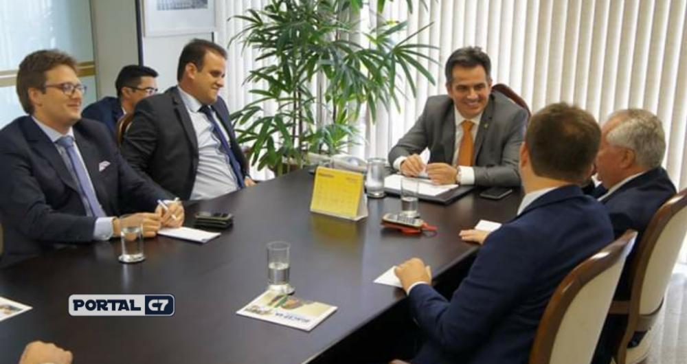 Prefeito Diego Teixeira com senador Ciro Nogueira em Brasília