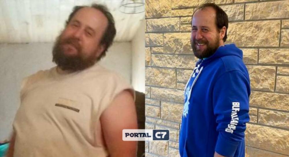 Pai emagrece 18 quilos para doar fígado ao filho/Reprodução