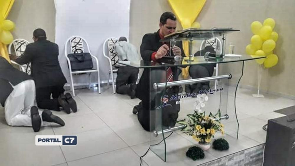 Pastor Adriano da Silva Paula da Igreja Metodista Wesleyana de Amarante