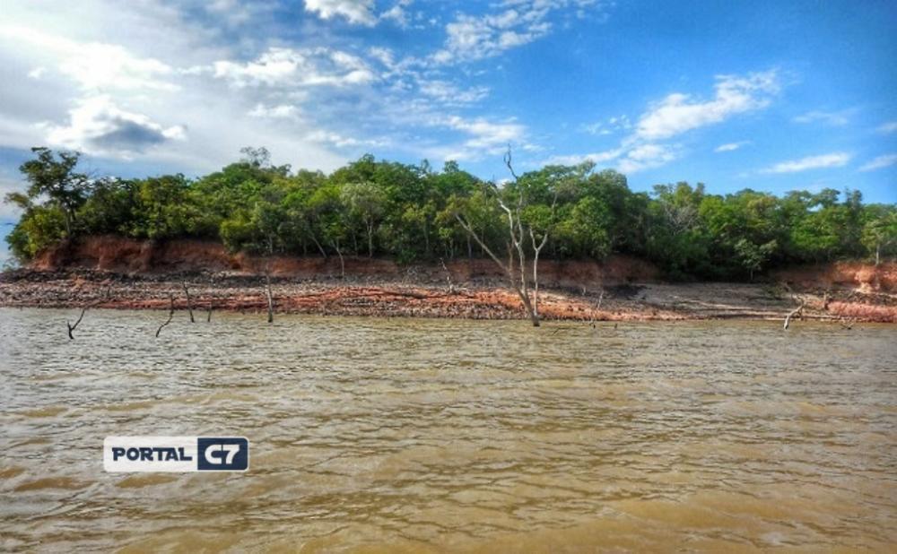 Local onde os fósseis foram encontrados, às margens do rio Parnaíba.