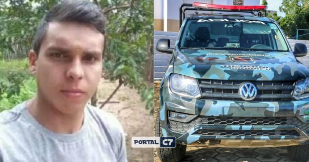 Funcionário que foi atingido com um tiro na cabeça/Montagem: Portal C7