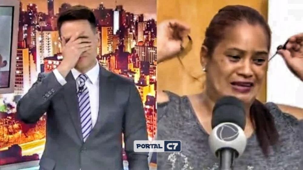 Ao vivo, programa de Luiz Bacci revela a uma mãe que filha foi assassinada e reação de mulher causa desespero