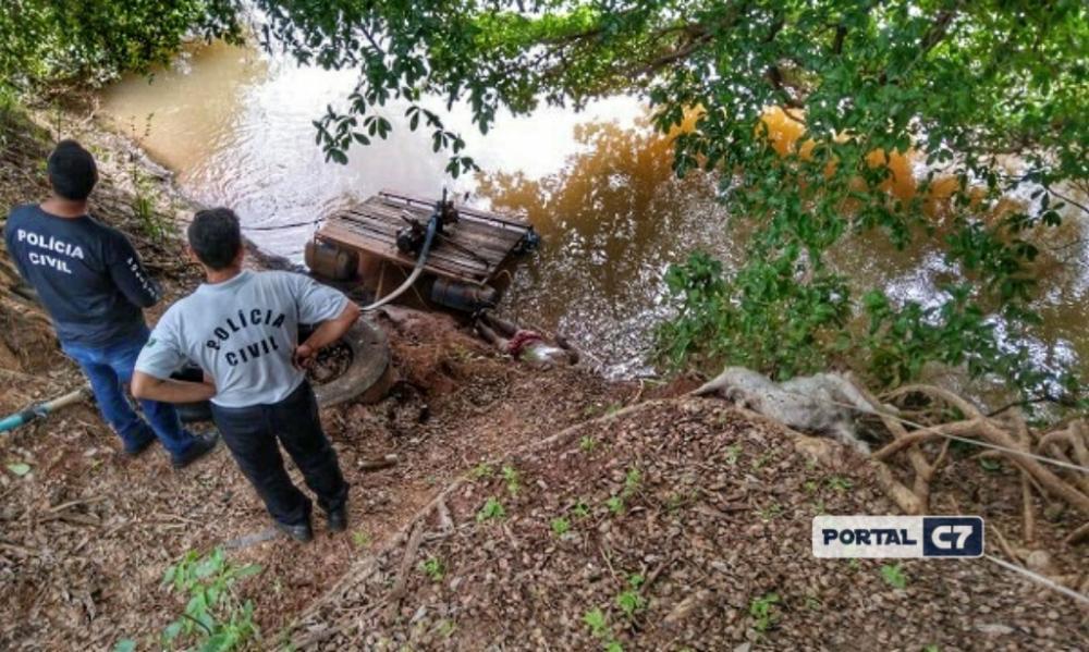 Corpo encontrado nas margens do Rio Parnaíba. (Imagem:Divulgação)