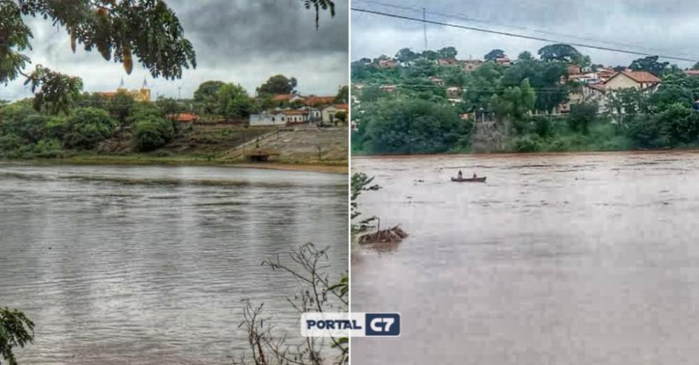 Rio Parnaíba em Amarante / Montagem: Portal C7