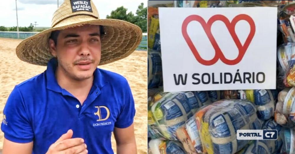 Wesley Safadão doará 30 toneladas de alimentos para cidade do Piauí