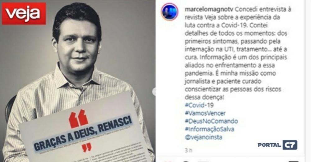 Marcelo Magno concede entrevista à Veja e fala sobre luta contra a Covid-19