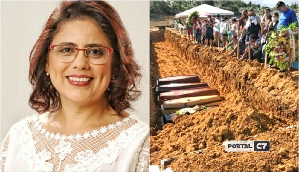 Prefeita Patrícia Leal, de Altos (PI) / Foto: reprodução