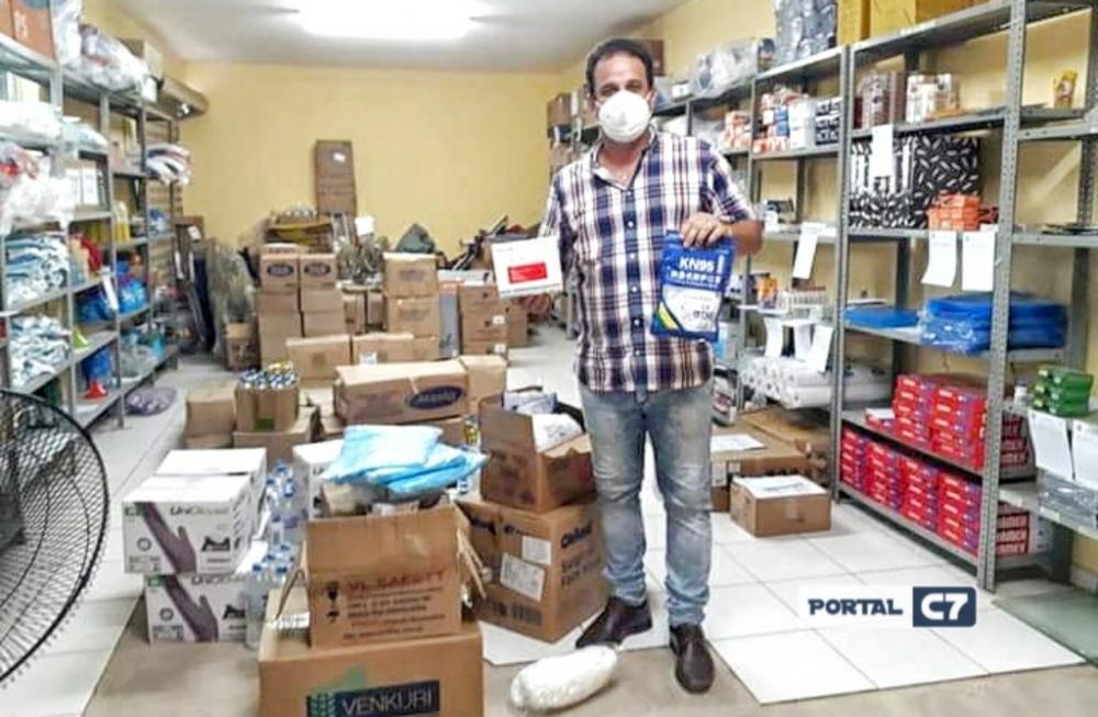 Prefeito Diego Teixeira entrega EPIs para secretaria Municipal de saúde em Amarante