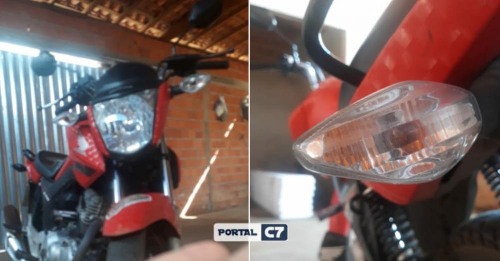 Moto é furtada por dupla de criminosos na barreira de segurança em Amarante