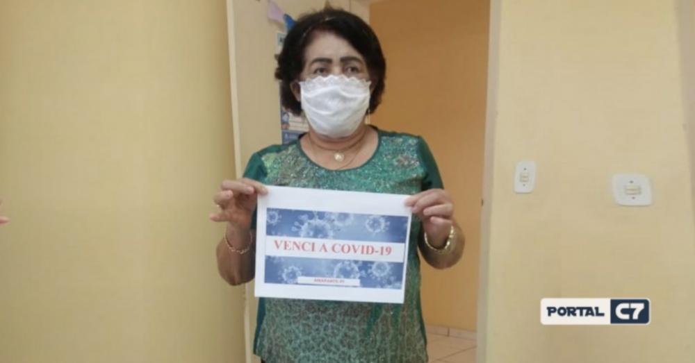 Mulher de 69 anos vence a Covid-19 e comemora em Amarante