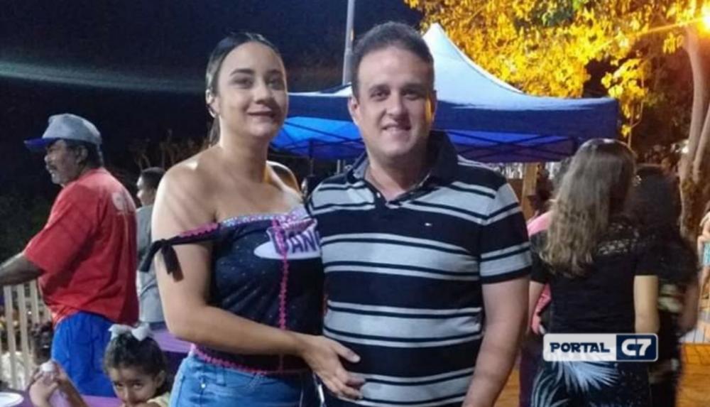 Prefeito Diego Teixeira e primeira-dama Ana Tércia Carvalho