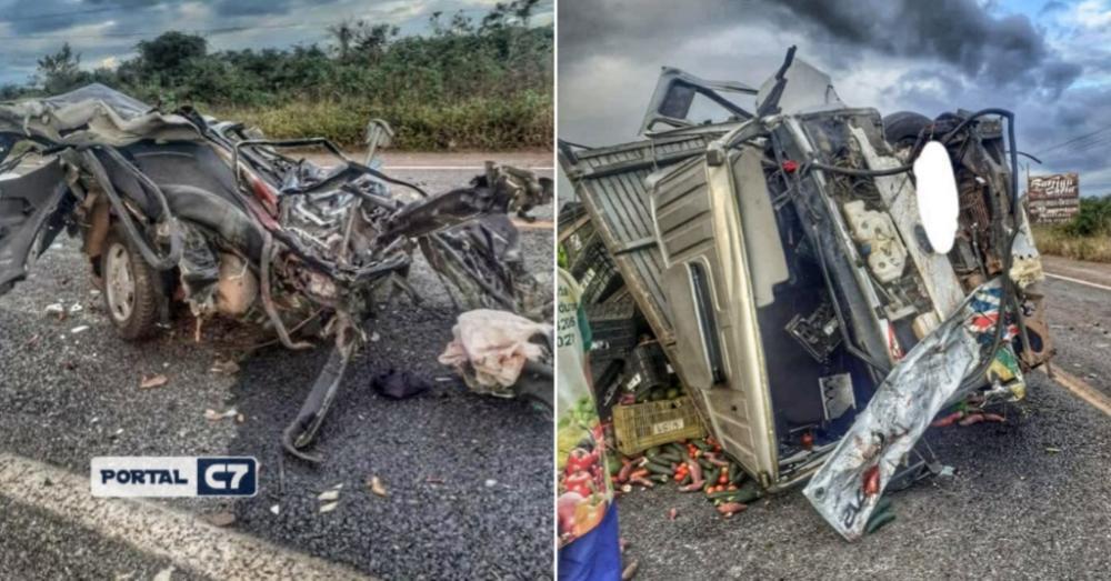 Grave acidente envolvendo 3 veículos deixa um homem morto entre Piauí e Ceará