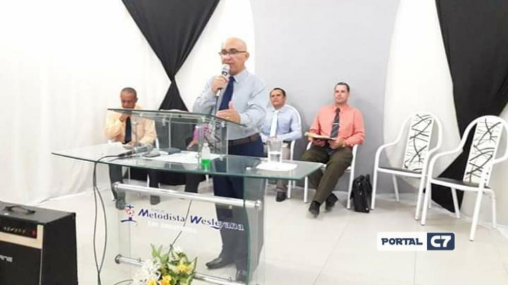 Pastor Josineide Amorim na Igreja Metodista Wesleyana de Amarante