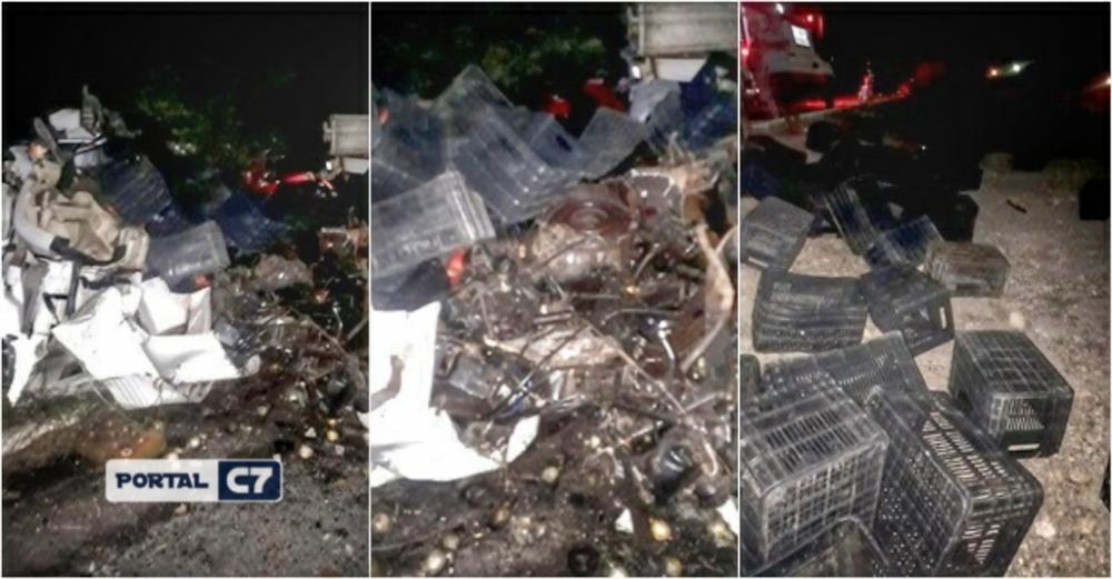 Colisão frontal entre caminhões deixa quatro pessoas mortas no Piauí