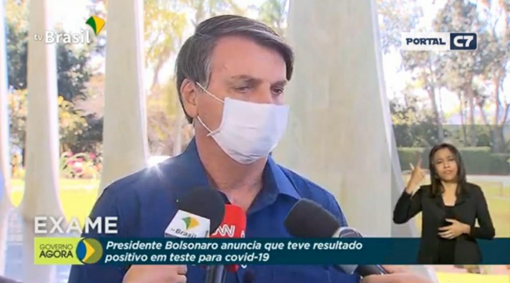 Bolsonaro testa positivo para coronavírus, já usa cloroquina e espera contraprova